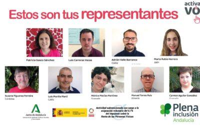 Elecciones a representantes en Plena Inclusión Andalucía